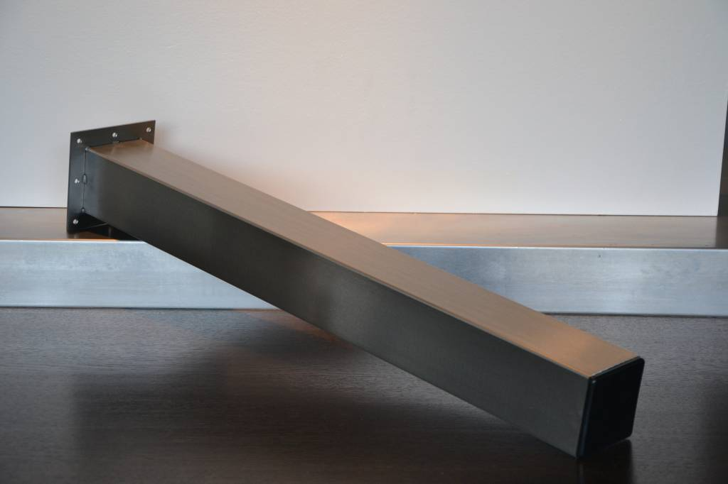 pied de table 100x100 carr acier inoxydable. Black Bedroom Furniture Sets. Home Design Ideas