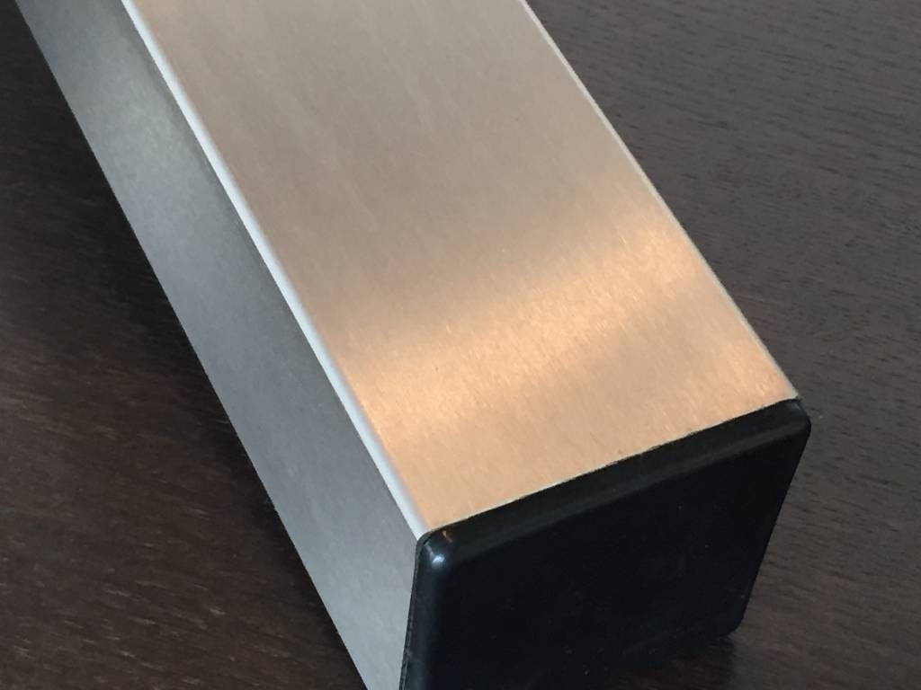Pied de table 100x100 carr acier inoxydable www - Table en acier inoxydable ...