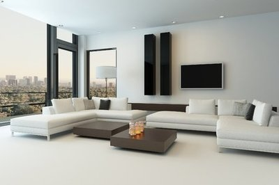 Betonlook vloer in de woonkamer met vloerverf: zo doet u dat