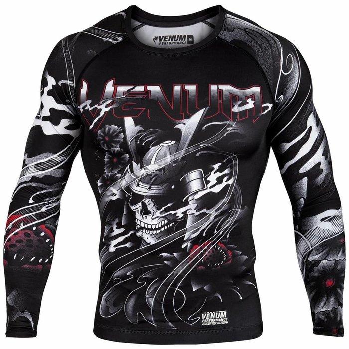 Venum Samurai Skull Rash Guard L/S Compression Shirt