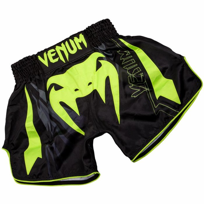 Venum Bangkok Sharp 3.0 Kickboxing Shorts Black Yellow Fightshop Europe