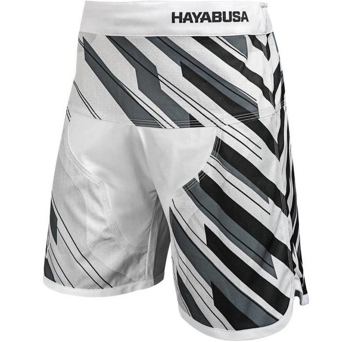Hayabusa Metaru Charged Jiu Jitsu Fight Shorts BJJ White
