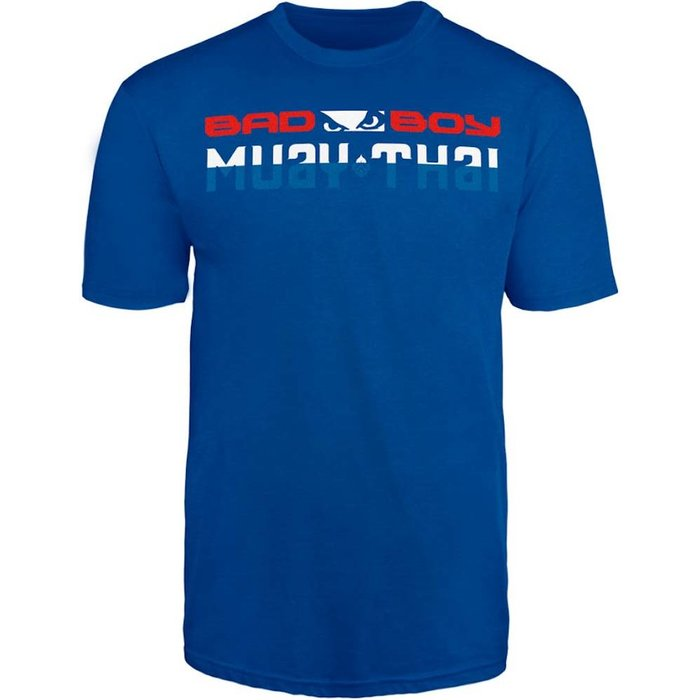 Bad Boy MUAY THAI DISCIPLINE T Shirt Blauw MUAY THAI Kleding