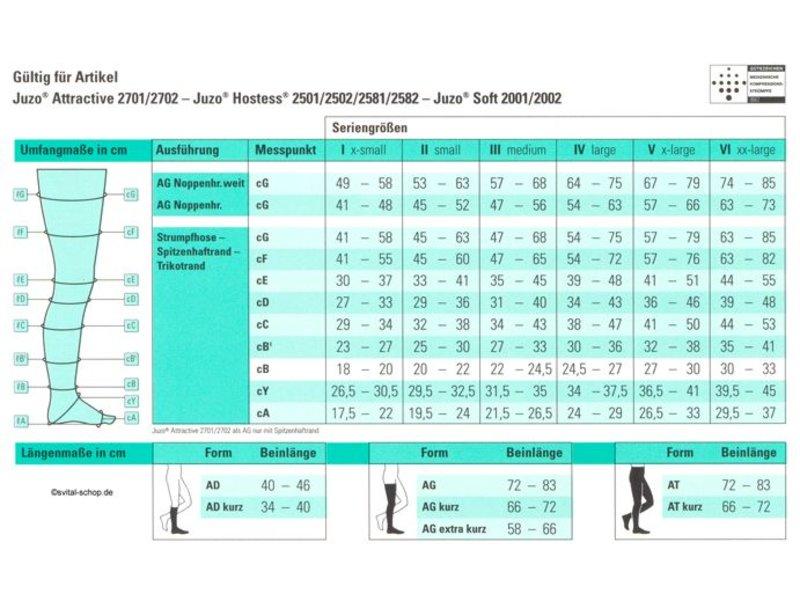 Juzo Soft AG/H Schenkelstrumpf mit Hüftbefestigung