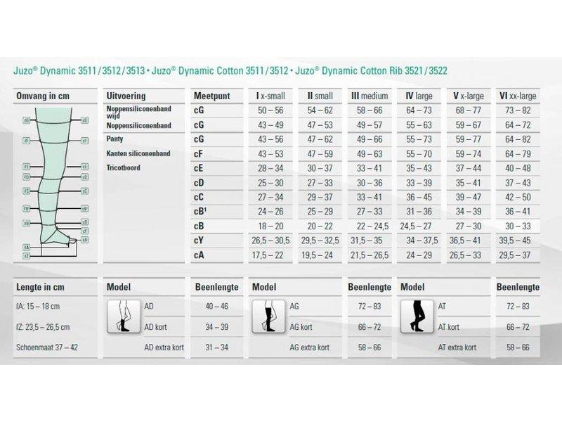 Juzo Dynamic AG/H Lieskous Heupbevestiging