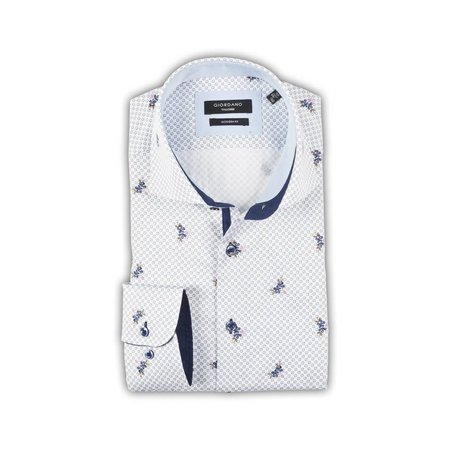 Giordano Giordano Alloverprint Hemd - Light Blue
