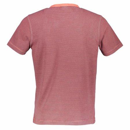 Lerros Lerros Serafino Shirt Kurzarm - Coral