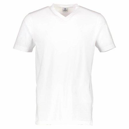 Lerros Lerros Doppelpack T-shirt V-Ausschnitt - White