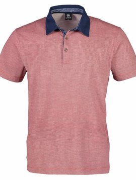 Lerros Print Polo - Coral Red