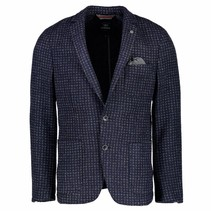 Blazer in Woloptiek - Night Blue