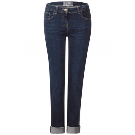 Cecil Donkere Slim Jeans Charlize - Dark Blue Wash