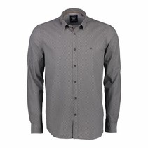 Hemd Allover Print - Rock Grey