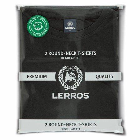 Lerros Lerros Doppelpack T-Shirt Rundhals - Black