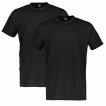 Doppelpack T-Shirt Rundhals - Black