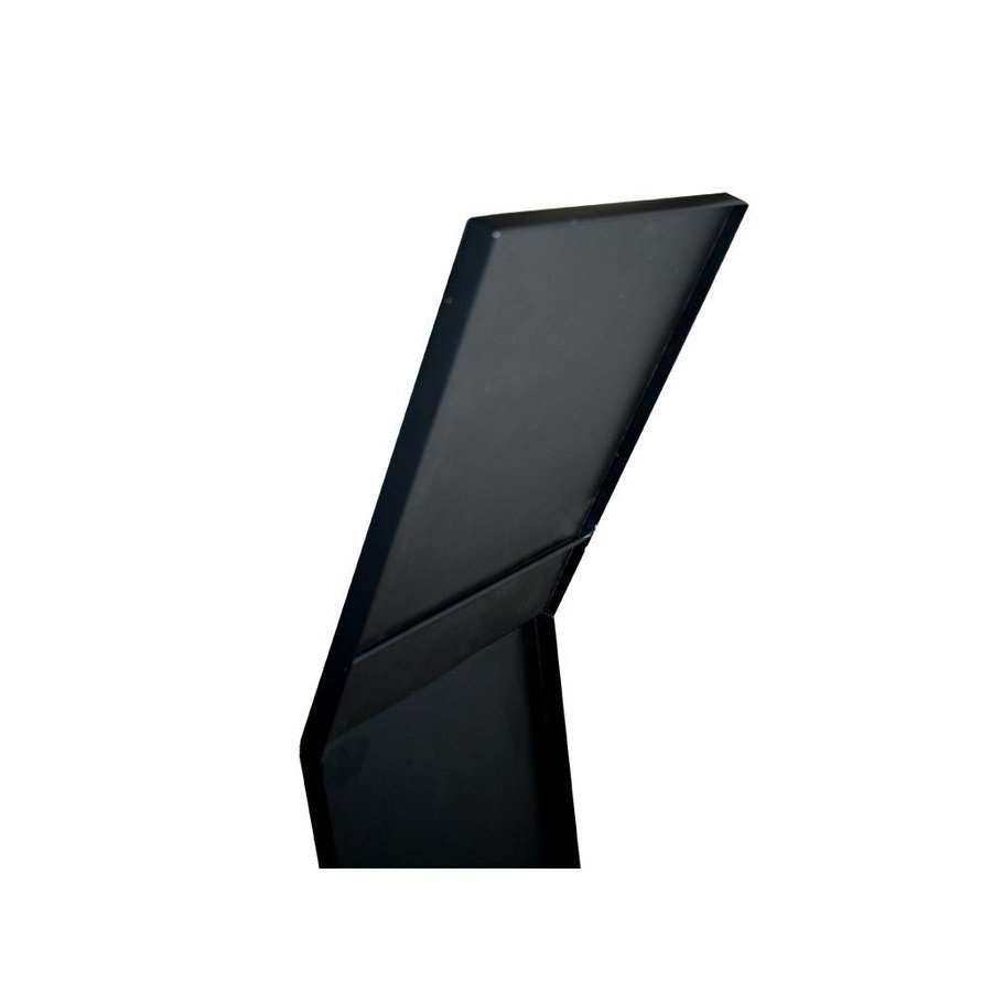 Folderstandaard zwart LUXE incl. A4 acrylaathouder