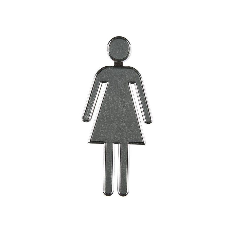 Toiletbord vrouwen chroom gecoate 3D