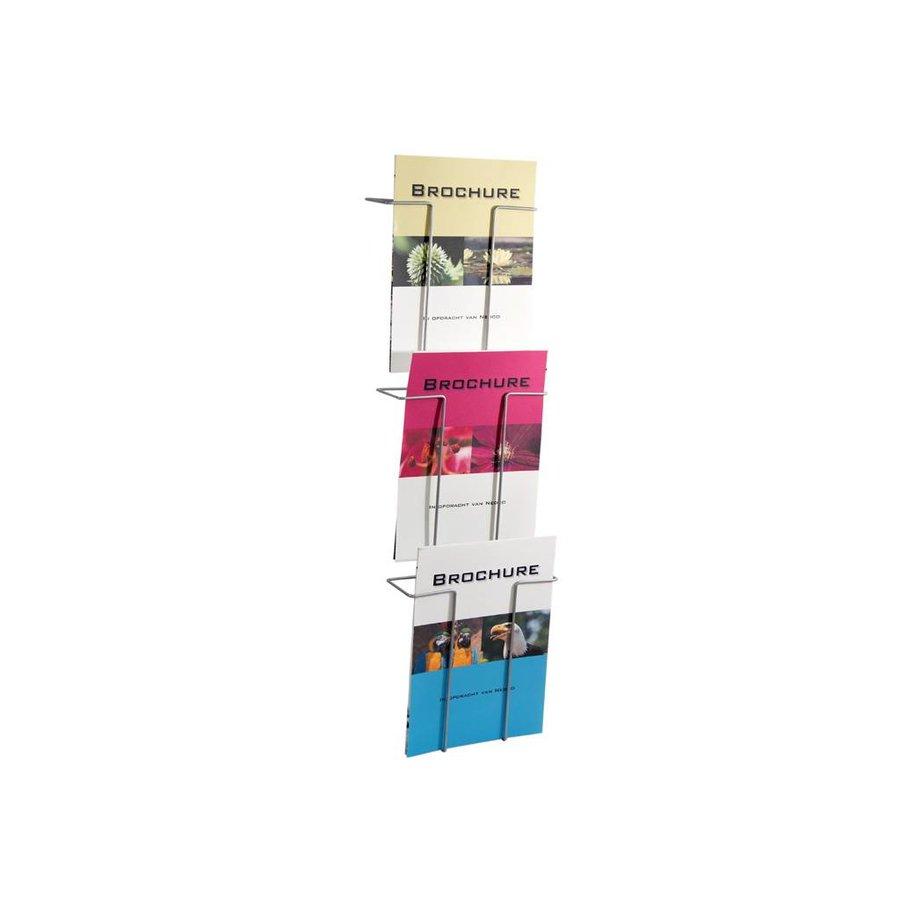 Folderrek Wand staaldraad 3 vaks A4 210x297mm BxH