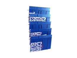 Folderrek Wand staaldraad 5 vaks A3 420x297mm BxH