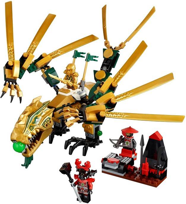 lego ninjago 70503 le dragon d 39 or bo te endommag e. Black Bedroom Furniture Sets. Home Design Ideas