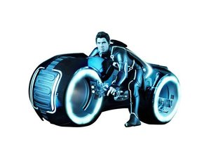Hot Toys TRON Legacy Sam Flynn with Lightcycle