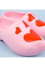 Klompen roze hartjes