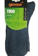 Gevavi Trio sok 3 paar/bundel blauw/zwart/grijs