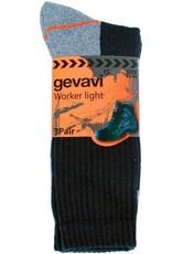 Gevavi GW80 Worker Light sok 3 paar/bundel zwart