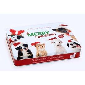 Studio Pets By Myrna Merry Christmas Dieren - 6 Kerstkaarten & Enveloppen