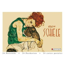 Tushita Egon Schiele Wens- Ansichtkaarten Postcard Book