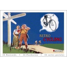 Tushita Retro Cycling Wens- Ansichtkaarten Postcard Book