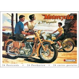 Tushita Motorcycles & Mopeds Ansichtkaarten Postcard Book