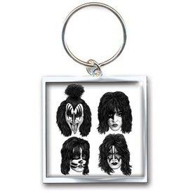 Rock Off Kiss Sleutelhanger Graphite Faces