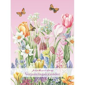 Comello Janneke Brinkman Voorjaarsbloemen A4 Verjaardagskalender