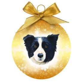 Plenty Gifts Border Collie Kerstballen Set (3 stuks)