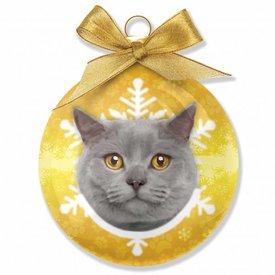 Plenty Gifts Britse Korthaar Kat Kerstballen Set (3 stuks)