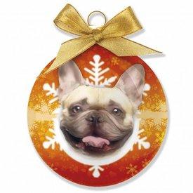 Plenty Gifts Franse Bulldog Kerstballen Set (3 stuks)