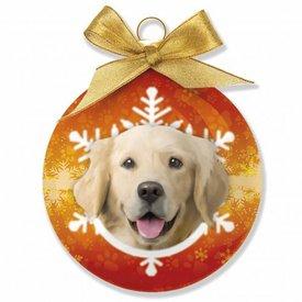 Plenty Gifts Golden Retriever Weihnachtskugeln Set (3 Stück)