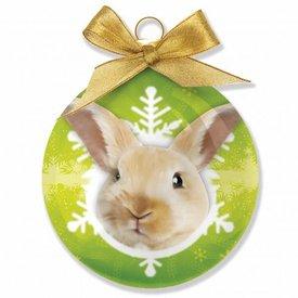 Plenty Gifts Kaninchen Weihnachtskugeln (3 Stück)