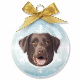 Plenty Gifts Chocolate Labrador Retriever Kerstballen Set (3 stuks)