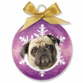 Plenty Gifts Mopshond - Pug Kerstballen Set (3 stuks)