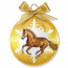 Plenty Gifts Rennende Paarden Kerstballen Set (3 stuks)