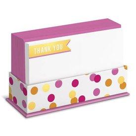 Graphique de France Banner Thank You 50 Boxed Notitiekaarten met envelop