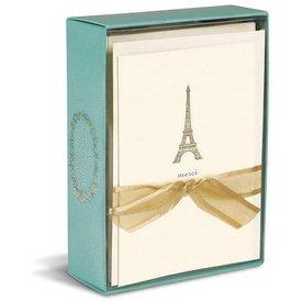 Graphique de France Eiffel Tower 10 Boxed Notitiekaarten met envelop