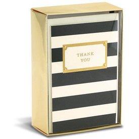 Graphique de France Elegant Thank You 10 Boxed Notitiekaarten met envelop