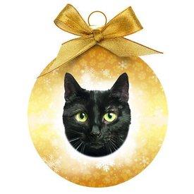 Plenty Gifts Zwarte Kat Kerstballen Set (3 stuks)