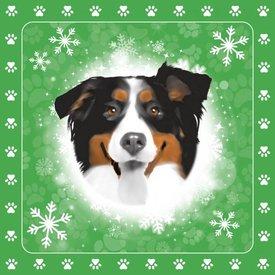 Otter House Christmas Special Tafelkeed - Servietten - Kerze Berner Sennenhund
