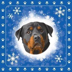 Otter House Christmas Special Tafelkeed - Servietten - Candle Rottweiler