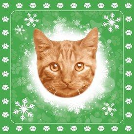 Otter House Kerstspecial Tafelkeed - Servetten - Kaars Ginger Kat