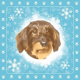 Otter House Christmas Special Tafelkeed - Servietten - Kerze Wirehaired Dachshund