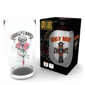 GB Eye Guns N Roses Logo Bierglas